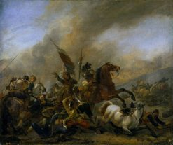 Skirmish between Enemy Troops | Philips Wouwerman | Oil Painting