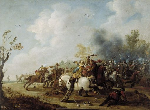 A Cavalry Skirmish | Pieter Meulener | Oil Painting