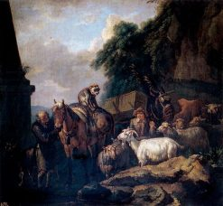 Caravan   Pieter van Bloemen   Oil Painting