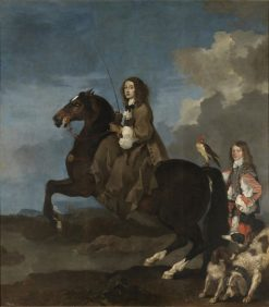 Christina of Sweden on Horseback | Sebastien Bourdon | Oil Painting