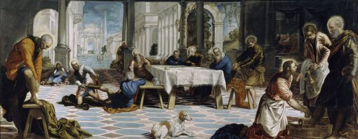 Christ Washing the Feet of his Disciples   Tintoretto   Oil Painting