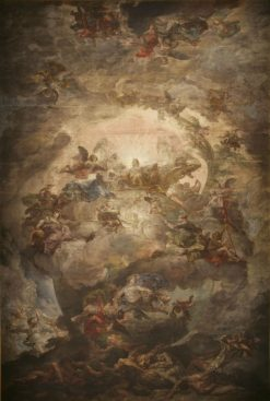 Allegory of the donation of the Casino to Queen Maria Isabel de Braganza by the Municipality of Madr | Vicente Lopez y Portaña | Oil Painting