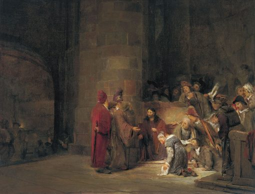 Christ and the Woman Taken in Adultery | Aert de Gelder | Oil Painting