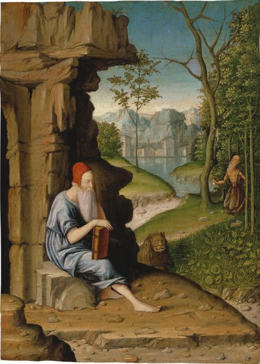 Saint Jerome in the Desert | Bartolomeo Montagna | Oil Painting