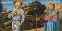 Saint Jerome and the blessed Bartolo Buompedoni of San Gimignano | Benozzo Gozzoli | Oil Painting