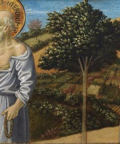 Saint Jerome and the blessed Bartolo Buompedoni of San Gimignano | Benozzo Gozzoli | Oil Painting