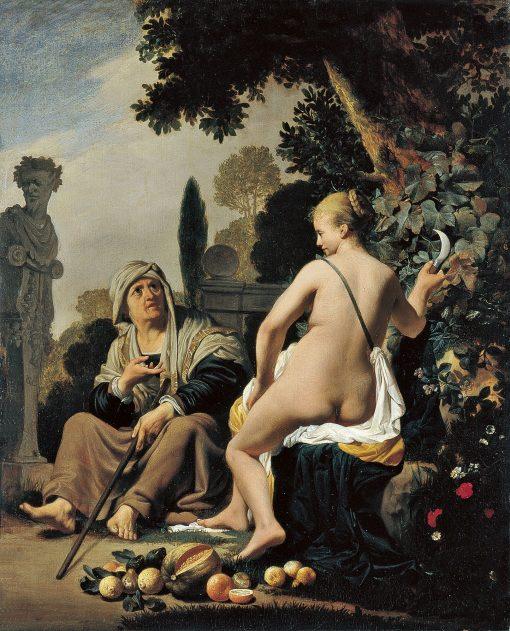Vertumnus and Pomona   Caesar van Everdingen   Oil Painting