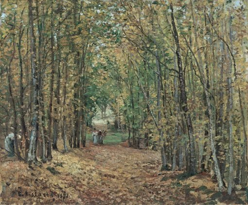 The Woods at Marly(also known as Avenue in the Parc de Marly) | Camille Pissarro | Oil Painting