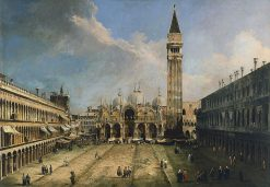 The Piazza San Marco in Venice | Canaletto | Oil Painting