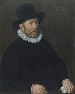 Portrait of a Man aged Fifty-eight   Cornelis Ketel   Oil Painting