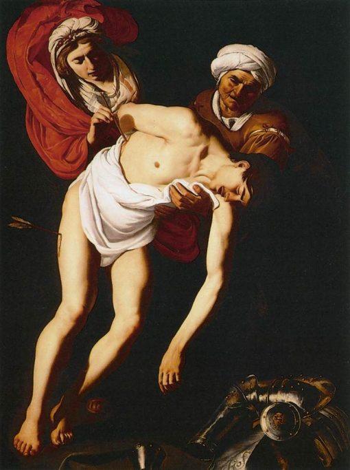 Saint Sebastian Attended by St Irene and Her Maid | Dirck van Baburen | Oil Painting