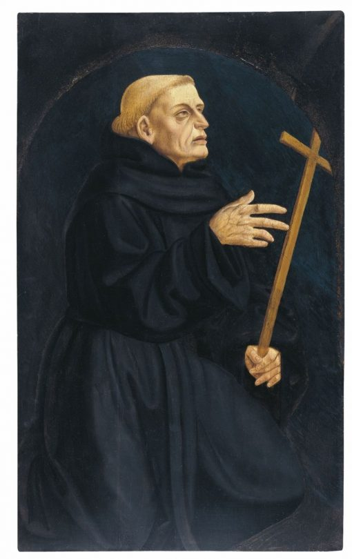 Monk Holding a Cross | Domenico Veneziano | Oil Painting