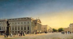 The Opera and Unter den Linden | Eduard Gaertner | Oil Painting