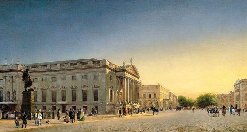 The Opera and Unter den Linden | Eduard Gaertner | Oil Painting