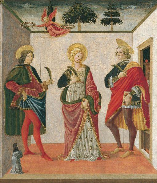 Saint Cecilia between Saint Valerian and Saint Tiburtius with a Donor   Francesco Botticini   Oil Painting