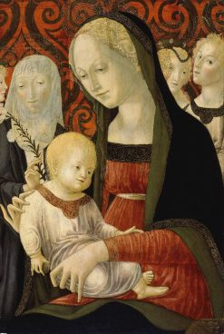 The Virgin and Child with Saint Catherine of Siena and Angels | Francesco di Giorgio Martini | Oil Painting