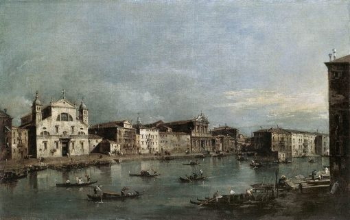 The Grand Canal with Santa Lucia and the Scalzi   Francesco Guardi   Oil Painting