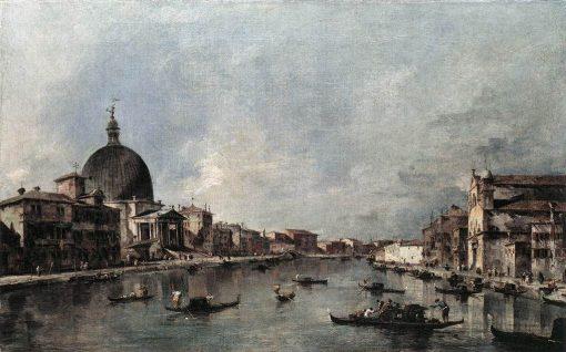 The Grand Canal with San Simeone Piccolo and Santa Lucia   Francesco Guardi   Oil Painting