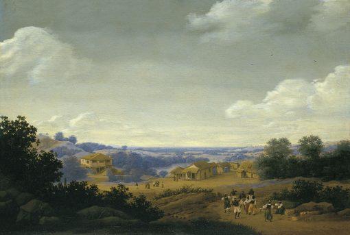 Plantation Settlement in Brazil   Frans Post   Oil Painting