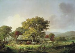 Autumn in New England: Cider Making | George Henry Durrie | Oil Painting