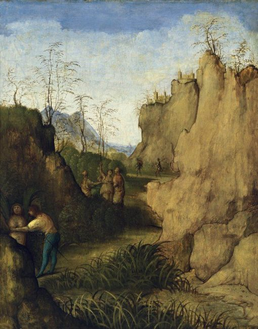 Ladon and Syrinix   Giiovanni Agostino da Lodi   Oil Painting