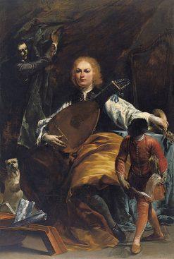 Portrait of Count Fulvio Grati | Giuseppe Maria Crespi | Oil Painting