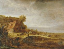 Landscape with a Farm and a Bridge | Govaert Flinck | Oil Painting