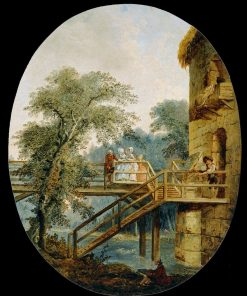 The Footbridge | Hubert Robert | Oil Painting