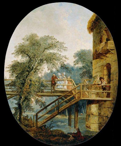 The Footbridge | Hubert Robert | Oil Painting