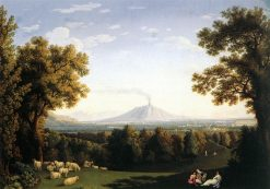 Landscape with the Palace of Caserta and Vesuvius | Jakob Philipp Hackert | Oil Painting