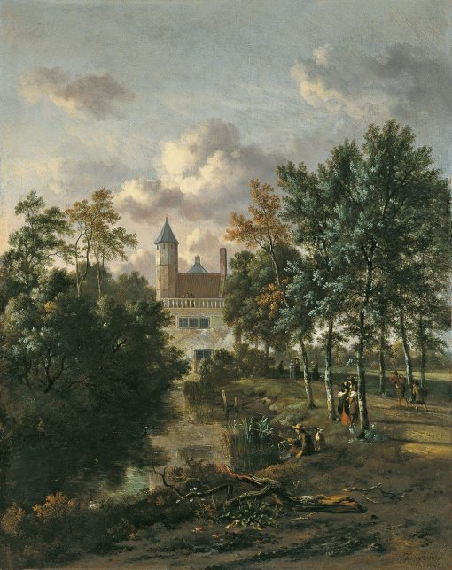 Castle in a Forest | Jan Wijnants | Oil Painting