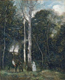 Le Parc des Lions a Port-Marly | Jean Baptiste Camille Corot | Oil Painting