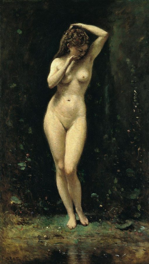 Diana Bathing(also known as La Fontaine) | Jean Baptiste Camille Corot | Oil Painting