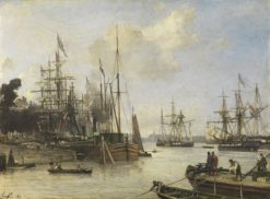 View of the Harbour of Rotterdam | Johan Barthold Jongkind | Oil Painting
