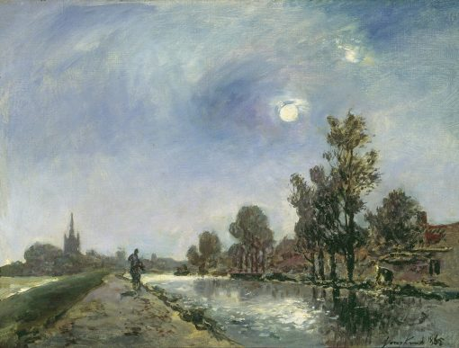 Towpath near Overschie | Johan Barthold Jongkind | Oil Painting