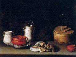 Still Life with Crockery and Cakes | Juan van der Hamen | Oil Painting