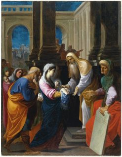The Presentation of the Christ Child in the Temple | Lodovico Carracci | Oil Painting
