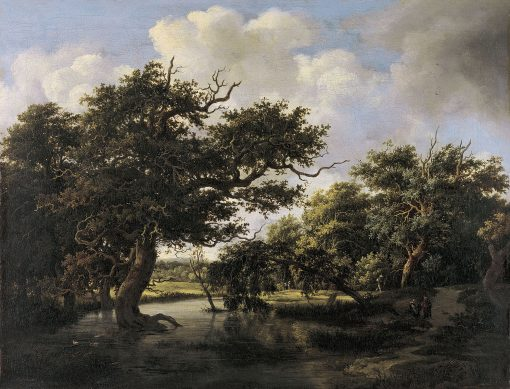 Woodland Pond | Meindert Hobbema | Oil Painting