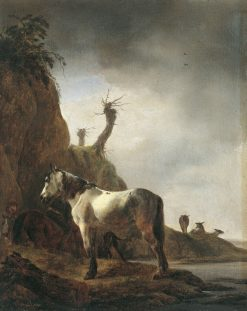Horse by a Riverbank | Philips Wouwerman | Oil Painting