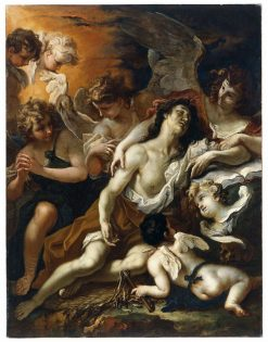 Mary Magdalen Comforted by Angels | Sebastiano Ricci | Oil Painting