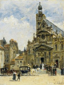 Wedding in St-Etienne-du-Mont | Stanislas LEpine | Oil Painting