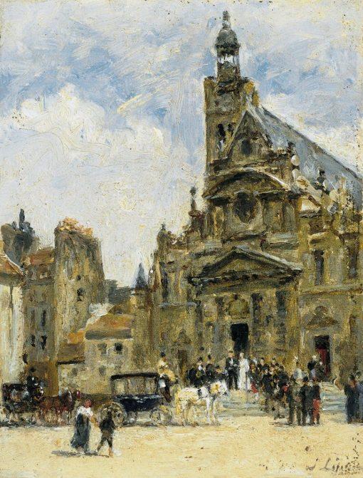 Wedding in St-Etienne-du-Mont | Stanislas LEpine | Oil Painting