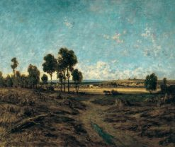 View of the Plain of Montmartre | ThEodore Rousseau | Oil Painting