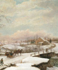Philadelphia Winter Landscape | Thomas Birch | Oil Painting
