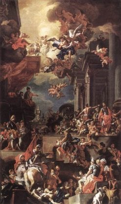 The Massacre of the Giustiniani at Chios | Francesco Solimena | Oil Painting