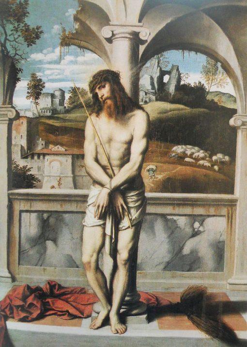 Christ at the Column   Moretto da Brescia   Oil Painting