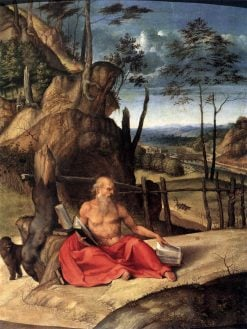 Saint Jerome in the Wilderness | Lorenzo Lotto | Oil Painting