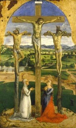 Crucifixion with Saint Mary Magdalene and a Donor | Alvise Vivarini | Oil Painting