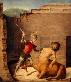 Battle of the Minotaur | Cima da Conegliano | Oil Painting