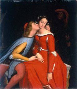 Paolo and Francoise de Rimini   Jean Auguste Dominique Ingres   Oil Painting